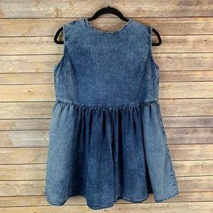 ASOS Dresses - Asos Petite Women's US 0 UK 4 Chambray Oversized D